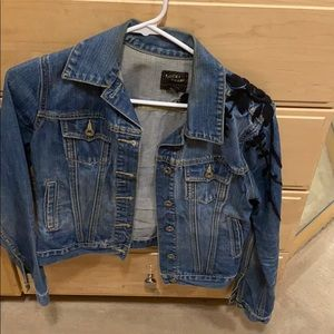 Lucky Brand denim jacket with embroidery
